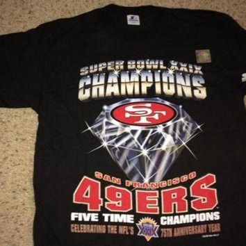 PEAPYD9 Sale!! Vintage Starter San Francisco 49ers 'Super Bowl XXIX CHampions' Football Shirt