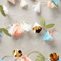 Paper Floral Garland by Anthropologie in Pink Size: One Size Gifts