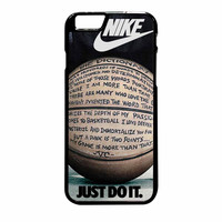 Nike Just Do It Quote Basketball iPhone 6 Plus Case