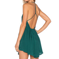 NBD Party Girl Dress in Forest Green