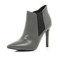 River Island Womens Grey point stiletto ankle boots