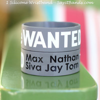The Wanted, Max Silva Nathan Jay Tom, One Inch Wristband