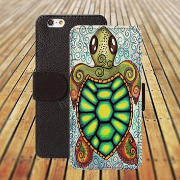 iphone 5 5s case tortoise flowers iphone 4/4s iPhone 6 6 Plus iphone 5C Wallet Case,iPhone 5 Case,Cover,Cases colorful pattern L281