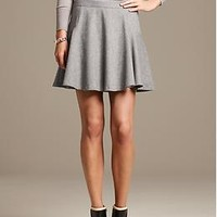 Gray Flannel Fit-and-Flare Skirt