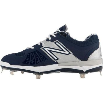DCCK1IN new balance 3000v2 metal cleats low cut navy silver
