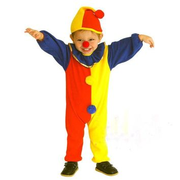 Child Boys Clown Circus Cosplay Costume Halloween Carnivals Fancy Dress Costume