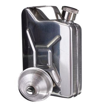 5oz Stainless Steel Gas Tank Flask with Funnel