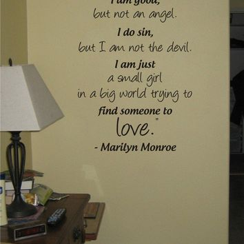 MARILYN MONROE QUOTE decal sticker wall by dabbledownJunior