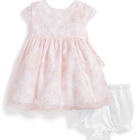 Infant Girl's Pippa & Julie Embroidered Organza Dress & Bloomers,