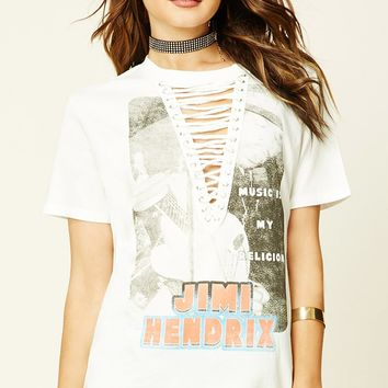 Jimi Hendrix Graphic Lace-Up Tee
