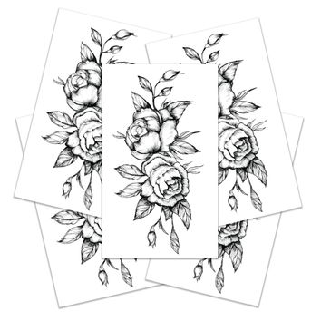 best temporary rose tattoo products on wanelo Vintage Sleeve Tattoos black roses temporary tattoos large set