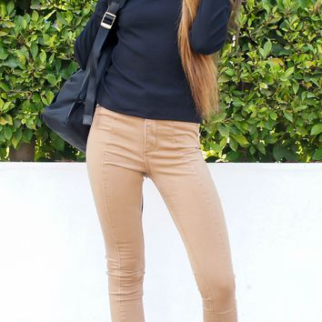 Ribbed Mock Turtleneck Top