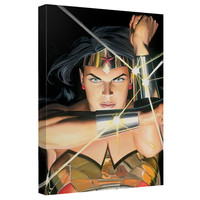 Wonder Woman Bracelets Stretched Canvas Wall Art