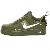 NIKE AIR FORCE 1 07 LOW Fashion New Women Men Sports Casual Wild Shoes Green