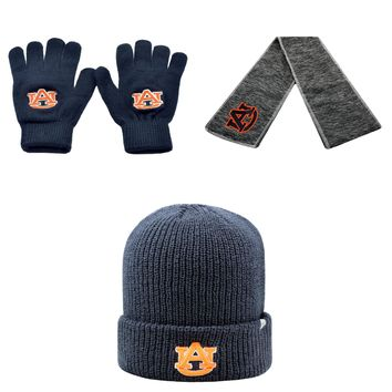 Licensed NCAA  Hail Scarf Knit Gloves And Heavy Beanie Hat 3 Pack 48246 KO_19_1