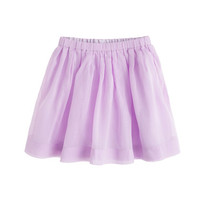 Sweet Lavender Girls' pull-on pleated skirt - solids - Girl's skirts - J.Crew