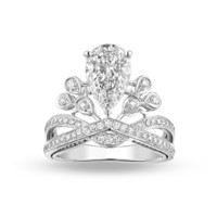 Crown ring:Crown ring simulation diamond wedding ring