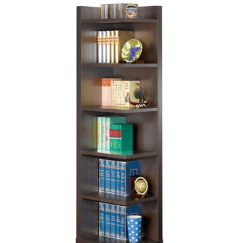 Coaster Fine Furniture Corner Bookcase Cappuccino 800270