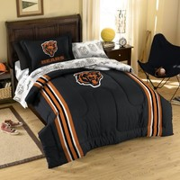 Chicago Bears Football Striped Twin-Full 3pc Bed Comforter Set