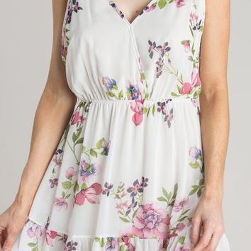 Georgina Cream Floral Mini Dress