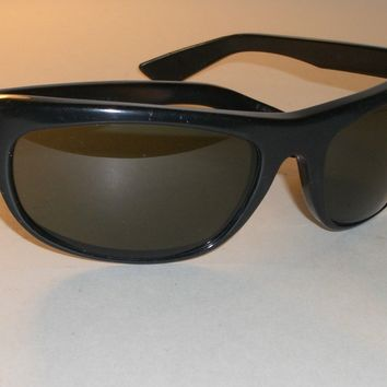 1970's BAUSCH & LOMB RAY BAN L2870 G15 UV BLACK EBONY BALORAMA WRAP SUNGLASSES