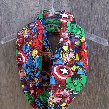 Marvel circle scarf infinity eternity loop cowl mobius Avengers unisex accessories superhero