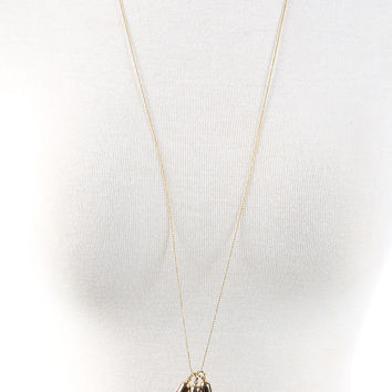 The Amelia Necklace - Burgundy