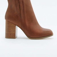 Tyler Tan Vegan Leather Ankle Boots - Urban Outfitters