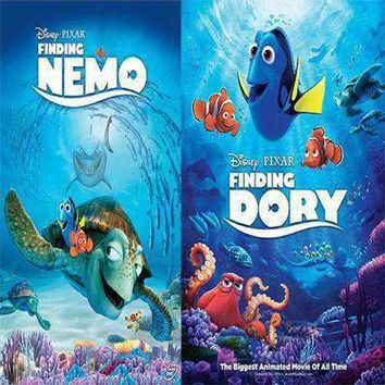 Finding Nemo and Finding Dory DVD Set