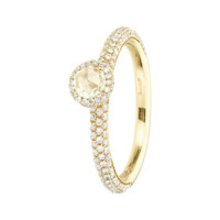 Pavé Ring Romance in red gold, diamond | Rings RenéSim