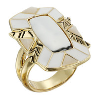 House of Harlow 1960 Nile Delta Cocktail Ring Howlite - Zappos.com Free Shipping BOTH Ways