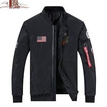High Quality Pilot Bomber Jacket Men Bomber Air force Flight Pilot Jackets Windbreaker Flight Bomber Jacket Mens Baseball coats
