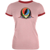 Grateful Dead - Calaveras Juniors Ringer Pink T-Shirt