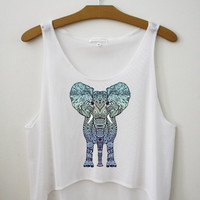 Aztec Elephant - Hipster Tops