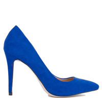Pointed Toe Blue Pumps