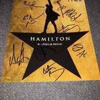 Lin-Manuel Miranda's Hamilton Cast Signed 8X10 Photo