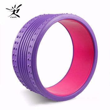 Yoga Wheel Eva Massage Roller, Strongest Most and Comfortable Massage Prop Wheel and Perfect Circle