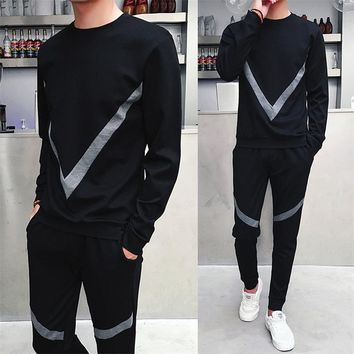 sporting suit men tracksuit track hidden sweat suits set