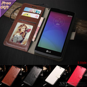 Flip Phone cases For LG Leon H340N H320 H324 LG G2 G3 LG G4 G5 Case Retro Cover Photo Frame Wallet PU Leather Bag