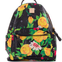 Finley Floral Backpack - Black