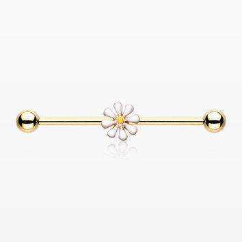 Golden Daisy Industrial Barbell