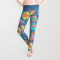 Nineties Dinosaur Pattern Leggings by Chobopop