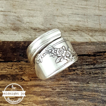 Queen Bess Wrapped Silverplate Spoon Ring