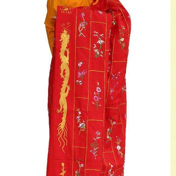 unisex Progenitor monks clothing cassocks meditation robes Shaolin abbot zen blessing suits master garment embroidery lay gown
