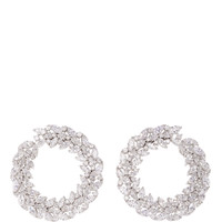 18K White Gold Classic Bridal Round Earrings | Moda Operandi