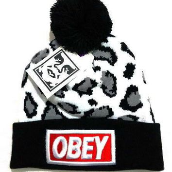 Obey Women Men Embroidery Beanies Knit Wool Hat Cap-21