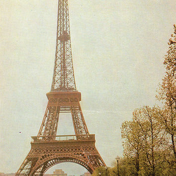 Paris. The Eiffel Tower - Vintage Photo Postcards - Printed in the USSR, «Soviet Artist», Moscow, 1966