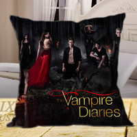 The Vampire Diaries Poster on square pillow cover 16inch 18inch 20inch