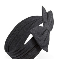 Stretch-Knit Bow Headwrap