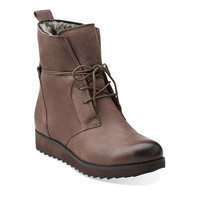 Minx Judy in Taupe Leather - Womens Boots from Clarks